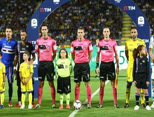 """""""Manita"""" Sampdoriana al Frosinone che  deve  presto rimboccarsi le maniche 0 a 5  allo Stirpe. I ciociari  non  reggono la supremazia dei doriani"""