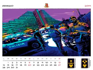 Presentazione del calendario della Polizia di Stato 2019
