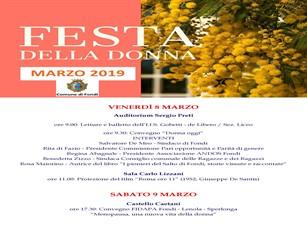 L'8 marzo è la festa della donna, il comune di Fondi promuove eventi culturali