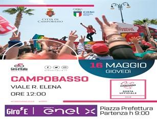 Il 16 maggio Campobasso diventa città del ciclismo