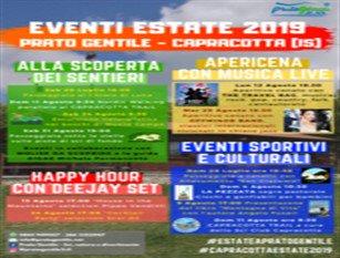 La Prato Gentile 2.0 presenta il cartellone degli eventi ESTATE A PRATO GENTILE 2019. Gli appuntamenti si dividono in diverse tematiche per accontentare un pubblico più vasto possibile!