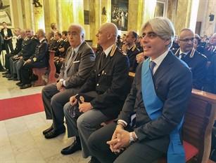 """lI presidente della Provincia Pompeo alla cerimonia per il patrono della Polizia Pompeo: """"Professionalità e impegno quotidiani per garantire sicurezza e controllo"""""""