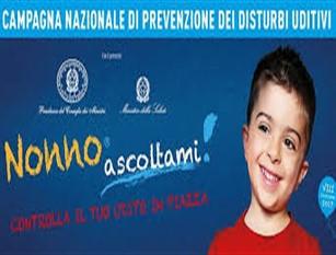 """Decima edizione """"Nonno ascoltami"""" 2019, conferenza stampa di presentazione  Campagna nazionale di sensibilizzazione e prevenzione dei  disturbi uditivi"""