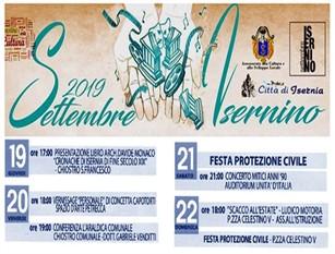 Settembre isernino, quattro giorni di incontri e spettacoli in occasione della festa della Protezione Civile