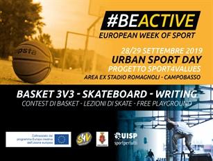 A Campobasso, il 28 e 29 settembre, spazio all'Urban Sport Day grazie al progetto SPORT4VALUES