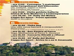 Eventi in città: il calendario degli appuntamenti di ottobre a Campobasso