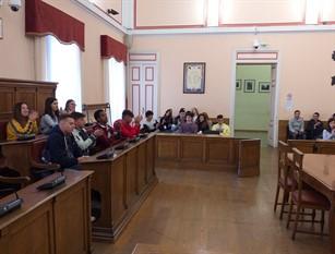 Il Presidente del Consiglio Comunale di Campobasso saluta gli studenti del progetto Erasmus giunti a Campobasso