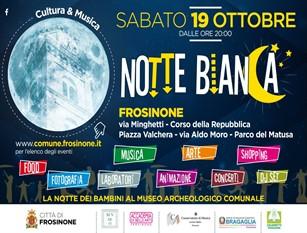 Frosinone, il 19 ottobre la Notte Bianca della Cultura e della Musica.