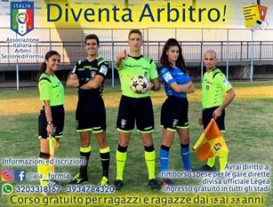 Al Coni di Formia iniziato il corso gratuito   per arbitri di calcio Per ragazzi e ragazze dai 15 ai 35 anni – Ultime iscrizioni