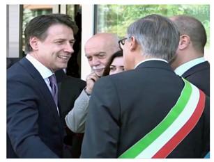 Il Premier Giuseppe Conte a Isernia, Il messaggio del sindaco d'Apollonio