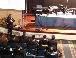 L'Arma dei Carabinieri nelle Scuole nell'ambito del progetto teso alla formazione della Cultura della Legalità.