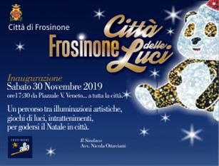 Frosinone, sabato 30 novembre luci in città lungo piazzale Veneto