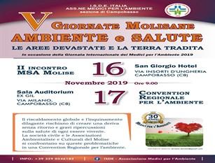 Seminario a Campobasso promosso dall'Ordine dei Medici per l'ambiente su inquinamento e salute. Occasione importante per fare chiarezza su materie delicatissime