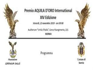 """Auditorium Unità d'Italia """"PREMIO AQUILA D'ORO INTERNATIONAL"""""""