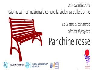 La Camera di Commercio del Molise aderisce al progetto  Panchine rosse contro la violenza sulle donne