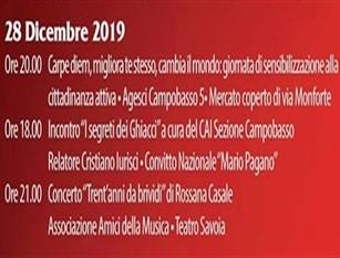 """Gli eventi di """"Natale a Campobasso"""" in programma per il 28 dicembre"""