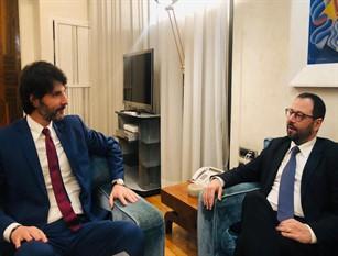 Il sindaco Gravina ha incontrato a Roma il Ministro Patuanelli