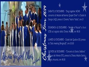 'Sing Together now!', lo spettacolo di beneficenza dell'Isernia Gospel Choir a Castel Di Sangro Il concerto della compagine corale isernina si terrà il 21 dicembre al Cinema Teatro Italia. Il ricavato della serata sarà devoluto a scopi benefici. E tanti ancora saranno gli appuntamenti per il periodo festivo