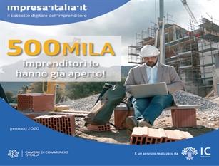 """Per 500mila imprenditori l'azienda è nel """"cassetto digitale""""  impresa.italia.it"""