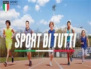 """""""SPORT DI TUTTI"""" Il Fondo per garantire il diritto allo sport per tutti Aperte le iscrizioni fino al 31 gennaio per bambini e ragazzi che vogliono fare sport gratuitamente"""