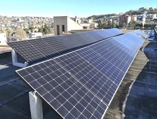 Lavori di efficientamento energetico in corso presso la Scuola Media Colozza
