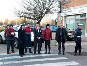 Vigilanza delle associazioni d'arma davanti scuole del frusinate