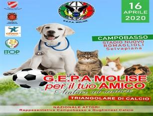 Il 16 aprile a Campobasso arriva la Nazionale Attori per un triangolare a scopo benefico organizzato da G. E. P. A. MOLISE