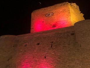 San Valentino, il castello Svevo sarà illuminato di rosso per la settimana degli innamorati