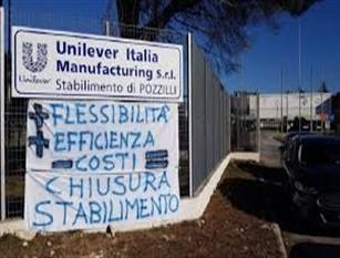 Unilever, sospeso lo sciopero