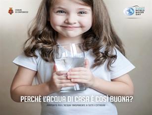 Oggi 22 marzo è la Giornata Mondiale dell'Acqua, l'Amministrazione comunale rende noti i dati dell'acqua della rete pubblica