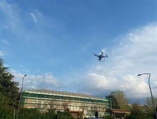 Frosinone, il Comune usa i droni per monitorare spostamenti e temperature.