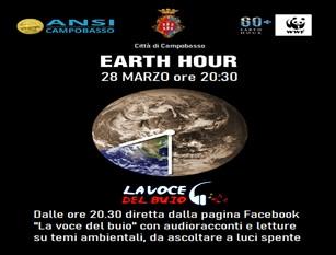 Il Comune di Campobasso aderisce all'Earth Hour con un'iniziativa realizzata in collaborazione con l'Associazione Nazionale Scuola Italiana