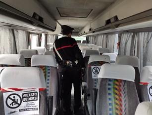 I carabinieri della Compagnia di Isernia a tutela dei pendolari e utenti dei mezzi di trasporto pubblici per le misure relative al contenimento del covid-19.