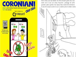 """""""Coronaiani Ciao Ciao"""", leggere e colorare per far capire ai piu' piccoli  in che modo affrontare l'emergenza Coronavirus"""
