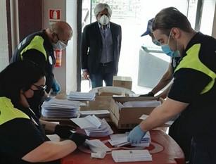 Covid-19, distribuite già 10.000 mascherine a 2.550 famiglie di Ferentino Il sindaco Pompeo: entro il fine settimana sarà completata la consegna a Poste Italiane