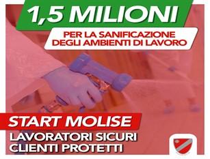 """""""Io riparto sicuro"""", 1.500.000 euro per piccole e medie imprese e liberi professionisti. Sovvenzioni per la sanificazione degli ambienti di lavoro e l'acquisto di prodotti e attrezzature"""