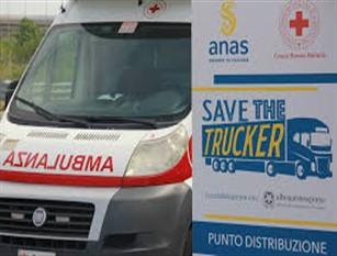 """Anas e Croce Rossa Italiana insieme per la sicurezza degli autotrasportatori """"Save the Trucker"""", prima iniziativa del protocollo d'intesa sottoscritto per il contenimento della diffusione del COVID-19"""