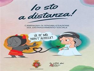"""A Campobasso prende il via la campagna di sensibilizzazione  """"Ué pe' mò nen t'azzecca'!"""" #IoStoADistanza"""