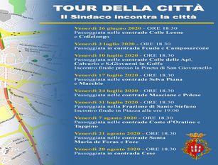 """Tour della città: dal 26 giugno il sindaco Gravina in giro per contrade e quartieri Gravina: """"Un atto d'ascolto e un momento di dibattito circostanziato, zona per zona"""""""