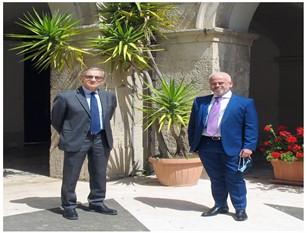 Il Direttore Generale dell'Asrem ha incontrato il sindaco d'Apollonio Florenzano in visita a Isernia