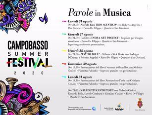 """Presentato il programma della prima edizione della nuova rassegna """"Campobasso Summer Festival"""""""