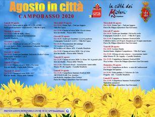 Presentato il calendario di Agosto in città 2020 Felice: Eventi per tutte le età e una gemma da far crescere, il Campobasso Summer Festival