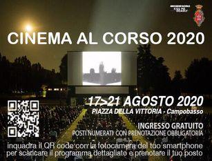 Cinema al Corso 2020: dal 17 al 21 agosto torna Cinema al Corso nel centro di Campobasso