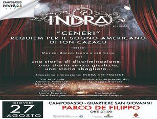 """Il Collettivo Indra Art Project sul palco del Campobasso Summer Festival con """"Requiem per il sogno americano"""""""