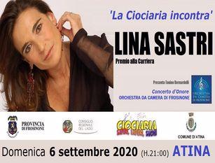 La Provincia di Frosinone premia l'attrice Lina Sastri ad Atina