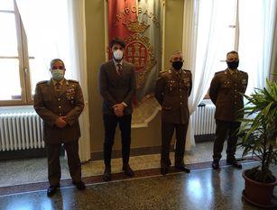 Incontro a Palazzo San Giorgio tra il sindaco Gravina e i vertici del Comando Militare dell'Esercito per l'Abruzzo e il Molise