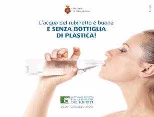 Campagna di sensibilizzazione sull'eccellente qualità dell'acqua della rete pubblica