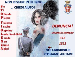 I Carabinieri di Isernia impegnati per la Giornata mondiale contro la violenza sulle donne.