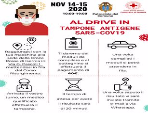 Covid, tamponi 'drive in' a Isernia Il 14 e 15 novembre in corso Risorgimento