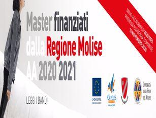 Unimol: master formativi della Regione Molise per l'anno accademico 2020/2021